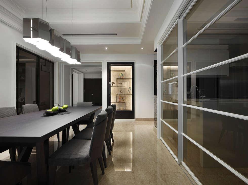 居悅:  餐廳 by 大荷室內裝修設計工程有限公司