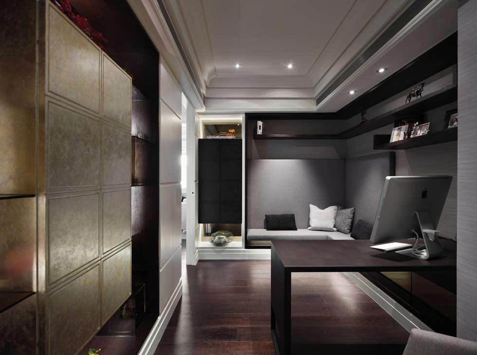 居悅:  書房/辦公室 by 大荷室內裝修設計工程有限公司
