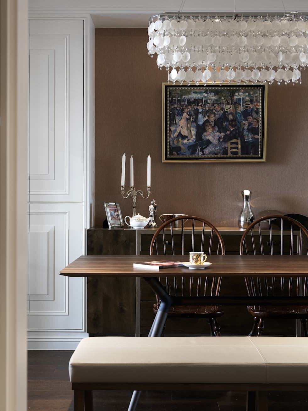 家的風景:  餐廳 by 大荷室內裝修設計工程有限公司