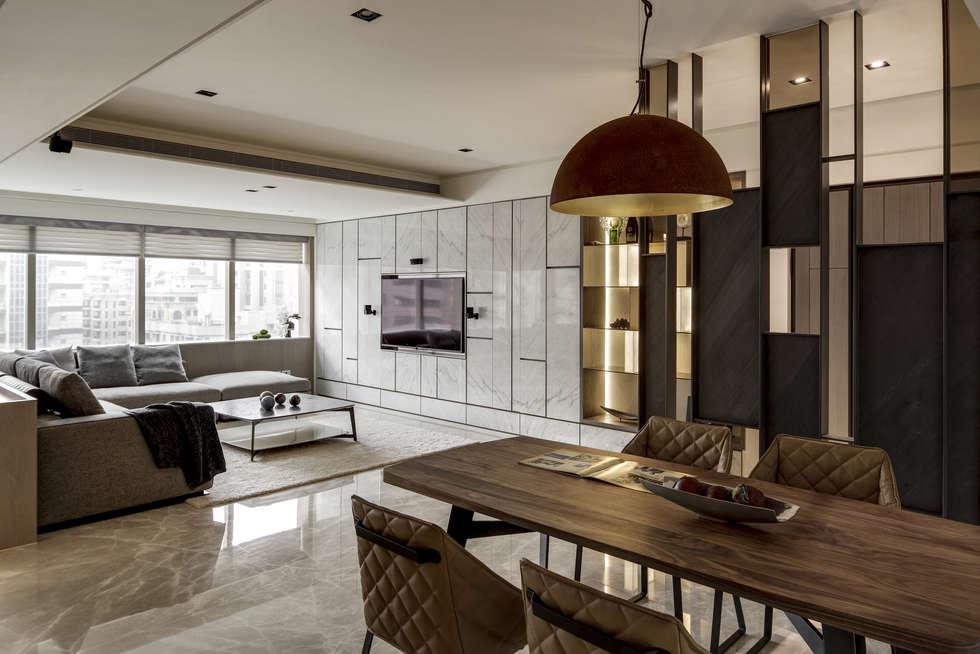 家的眷戀:  餐廳 by 大荷室內裝修設計工程有限公司