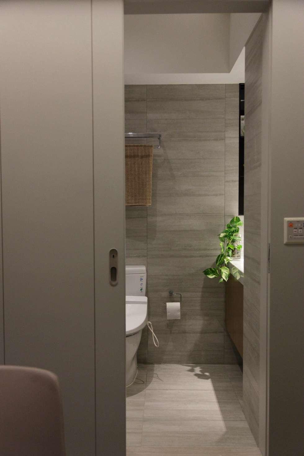 洗滌身心。療癒自然宅:  浴室 by 大荷室內裝修設計工程有限公司