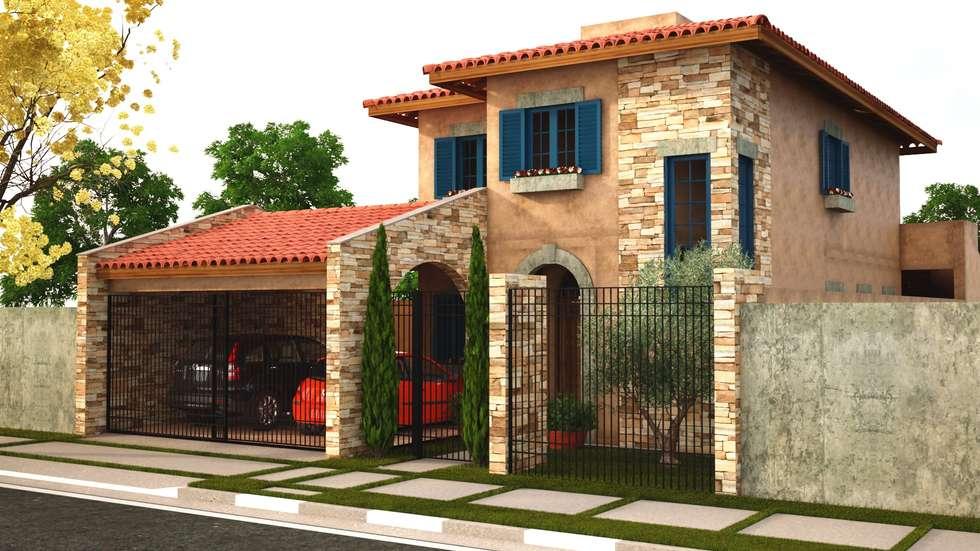 Casa toscana jd campo belo casas por leonardo morato for Fachadas de casas modernas en italia