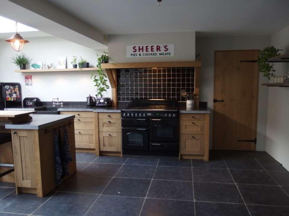 Keuken Eiken Houten : Landelijke eiken houten keuken landelijke keuken door de lange