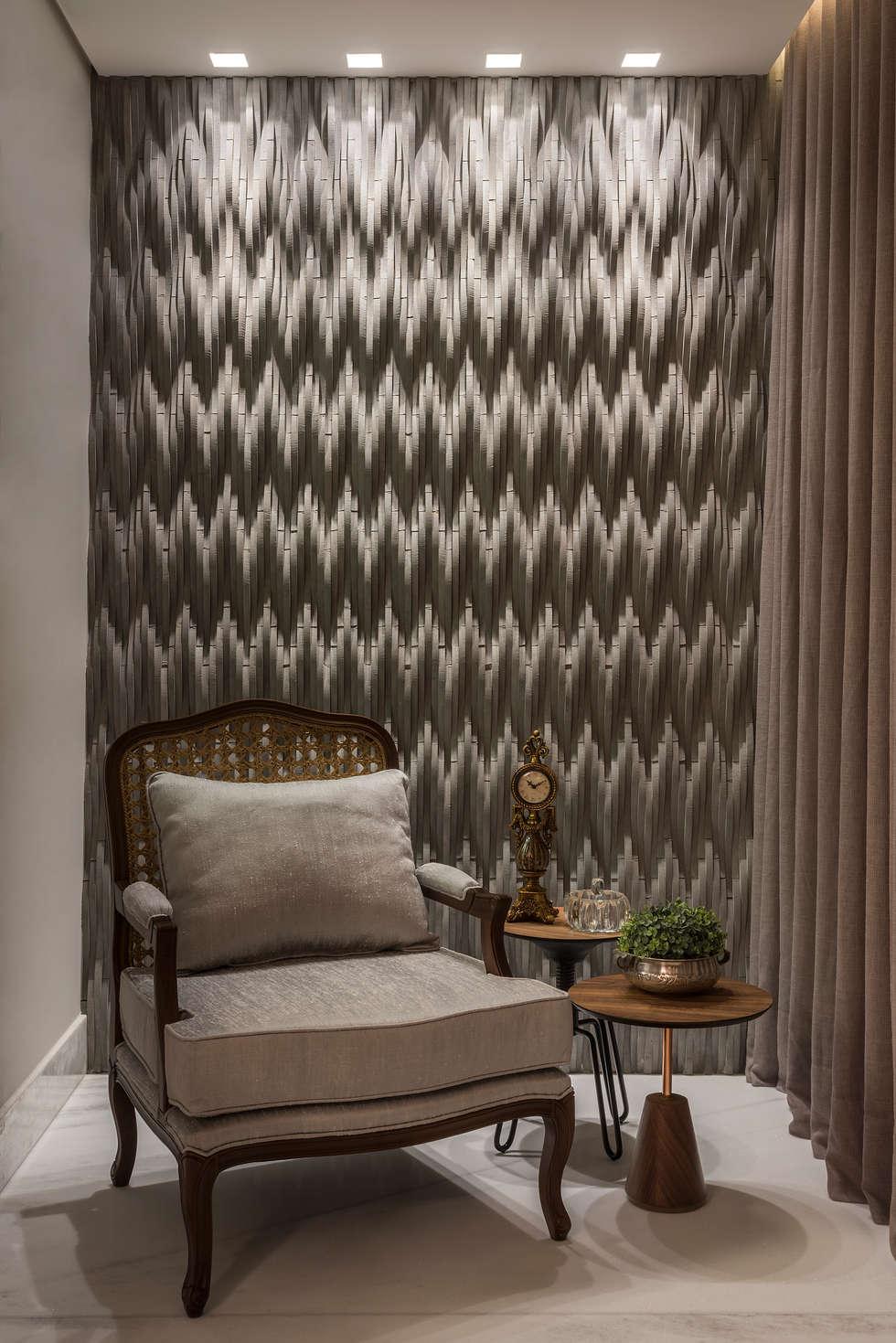 espao leitura paredes e pisos modernas por dekor design