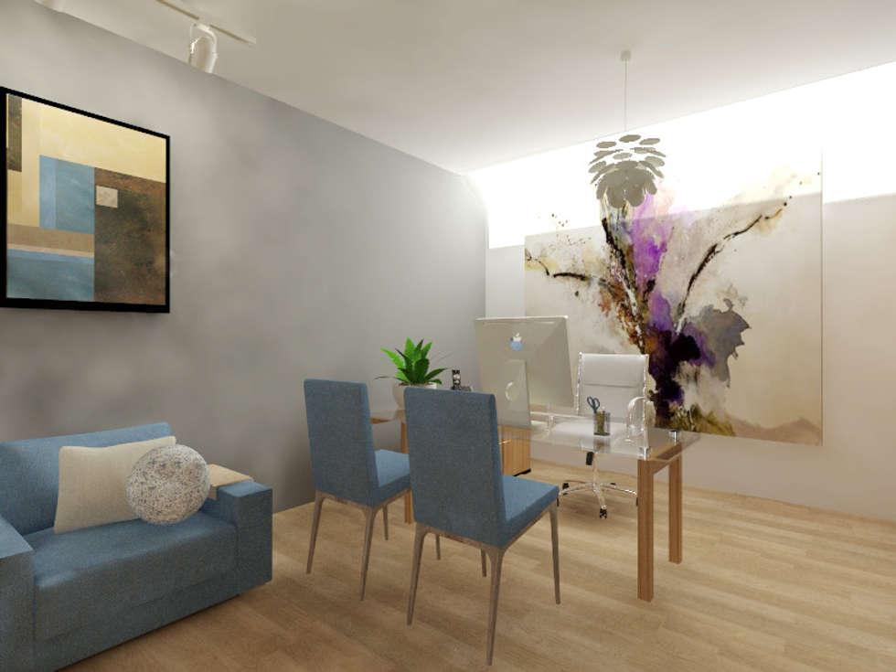 Despacho: Estudios y oficinas de estilo moderno por Arqternativa