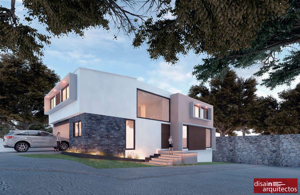 Casa Živali D-1: Casas de estilo moderno por disain arquitectos