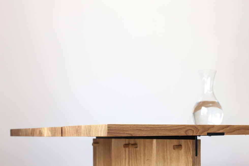 Eiken houten tafel moderne eetkamer door tim de graag homify
