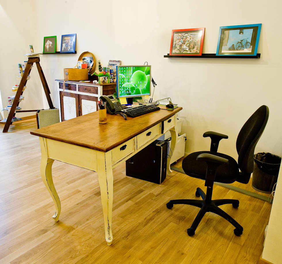 Idee arredamento casa interior design homify for Scrivania shabby