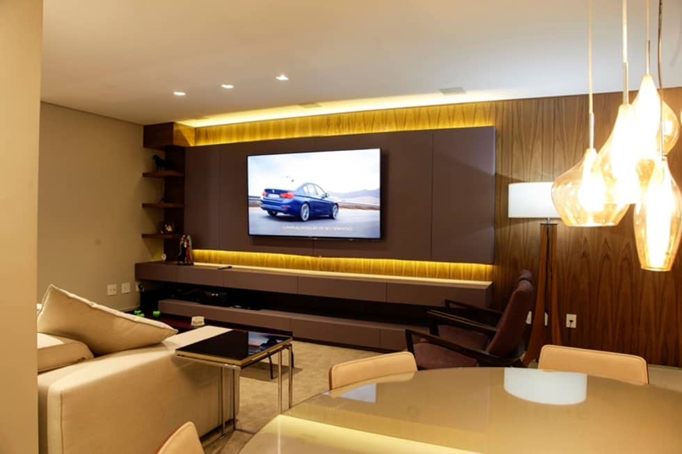 Fotos de decora o design de interiores e reformas homify - Sala home cinema ...