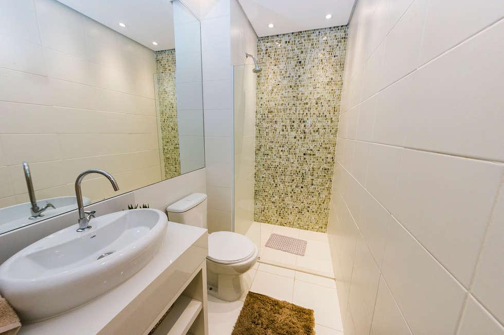 Fotos de banheiros modernos banheiro da suíte  homify -> Banheiros Suites Modernos