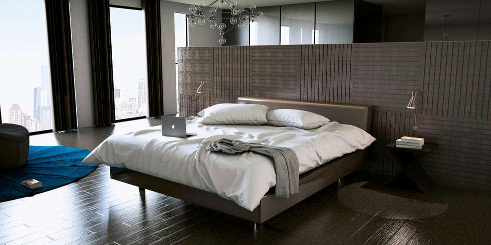 Interior design chic: Recámaras de estilo moderno por Studio03