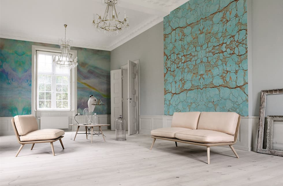 Natural Harmony scandinavian Living room by Pixers
