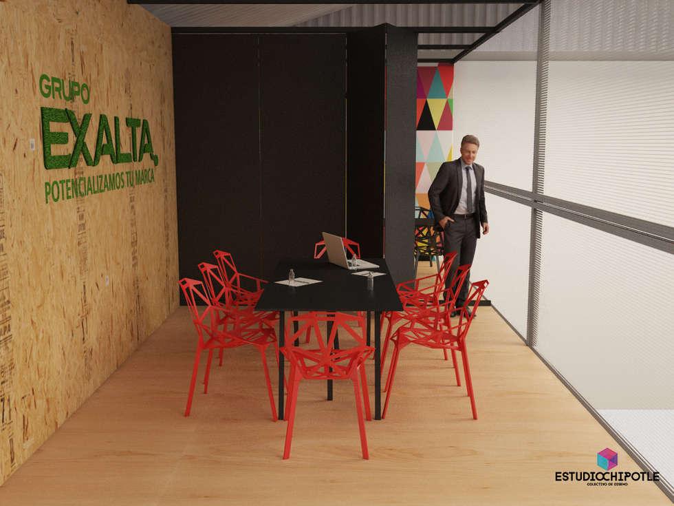 Sala de juntas: Oficinas y tiendas de estilo  por Estudio Chipotle