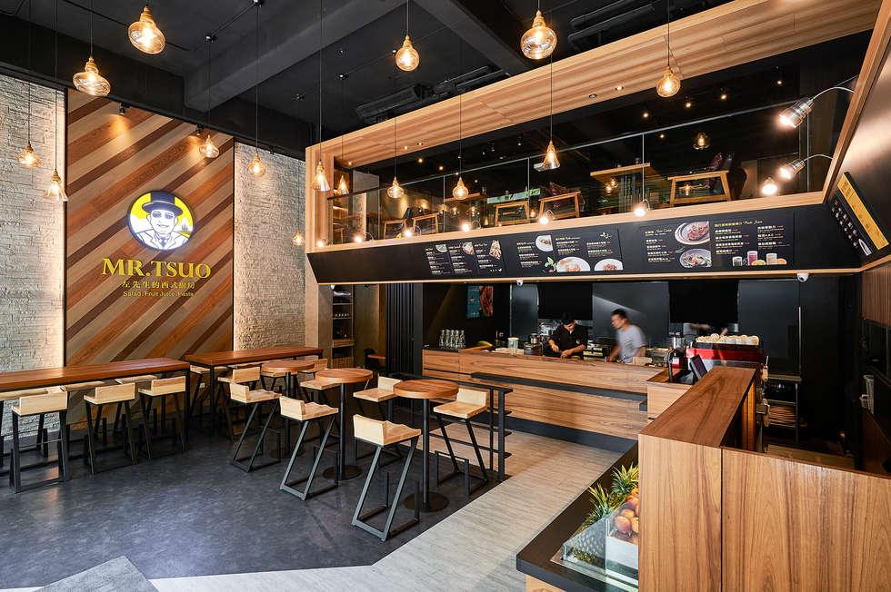 自然纖活美食提味:  餐廳 by 青瓷設計工程有限公司