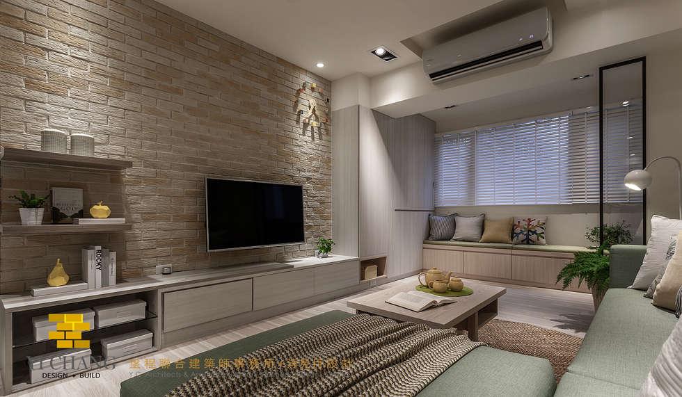 客廳:  客廳 by 垼程建築師事務所/浮見月設計工程有限公司