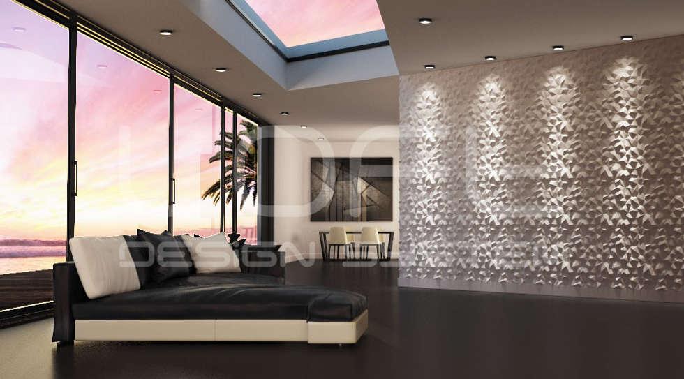 3d Paneele Aus Gips Modell Nr. 31 PEAKS: Moderne Wohnzimmer Von Loft Design  System