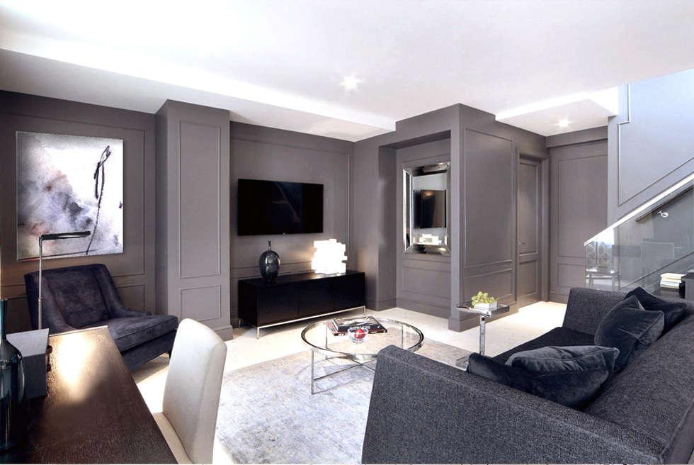 Penthouse New York: modern Living room by Joe Ginsberg