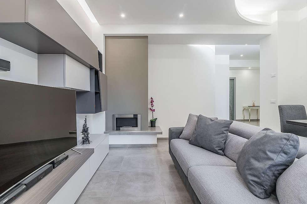 foto di soggiorno in stile in stile moderno : soggiorno | homify - Soggiorno Particolare Roma
