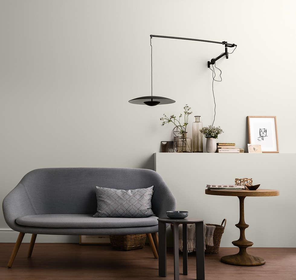 Muschelgrau – naturell: moderne wohnzimmer von schöner wohnen-farbe ...