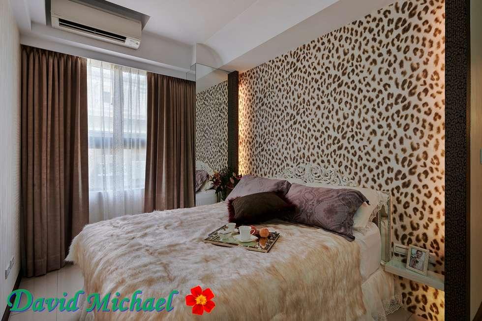 主臥房:  臥室 by 大衛麥可國際設計工程有限公司