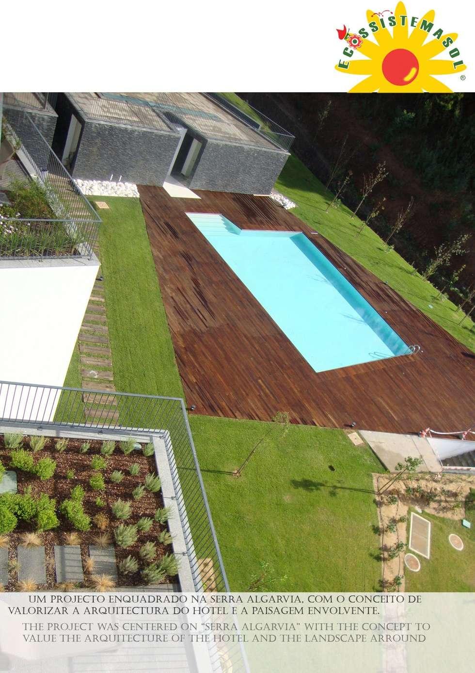 Longevity Hotel Monchique: Hotéis  por ECOSSISTEMAS; Áreas Verdes e Sistemas de Rega.