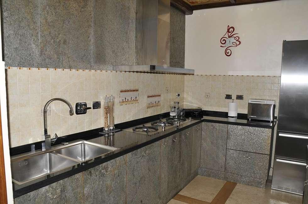 cucina moderna in legno su misura artigianale 100% italiano : cucina ...