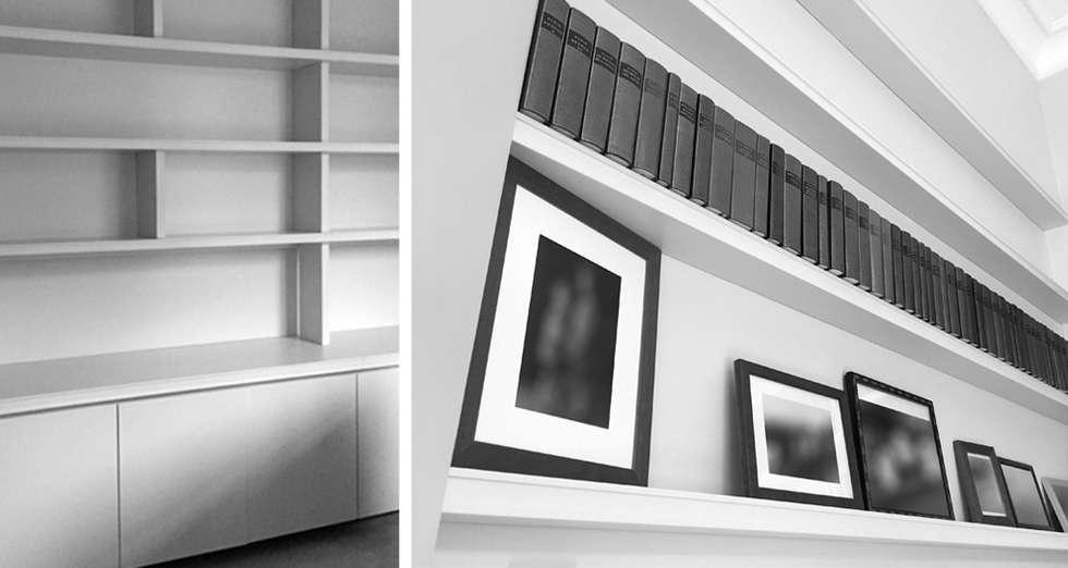 bibliothèque sur mesure: Bureau de style de style Moderne par AGENCE APOLLINE TERRIER