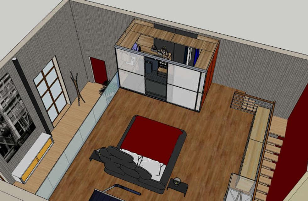 Letto e cabina armadio camera da letto in stile in stile - Cabina armadio con finestra ...