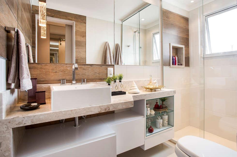 Fotos de banheiros modernos banheiro suite master  homify -> Banheiros Suites Modernos