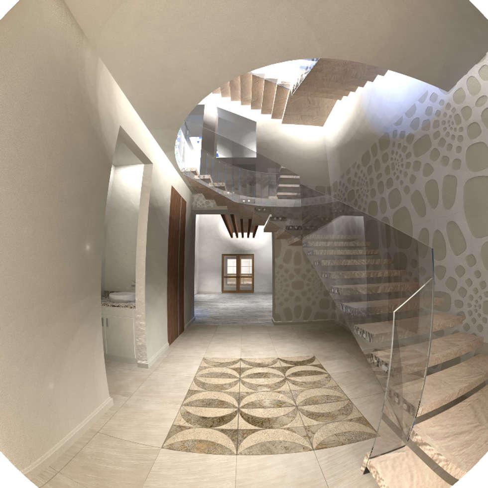 Casona Lizbeth, Centro Histórico Cd Carmen, México : Salas de estilo colonial por SG Huerta Arquitecto Cancun