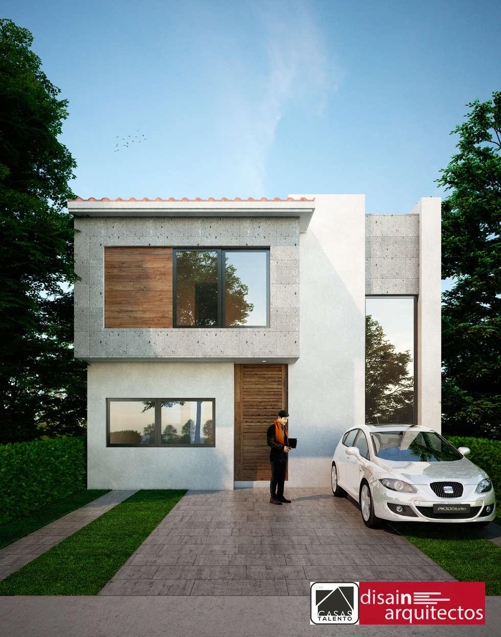 Casas TALENTO 2N Cielo: Casas de estilo moderno por disain arquitectos