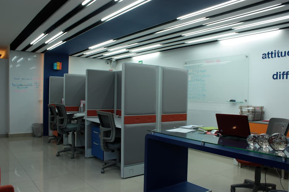Workstation.: Estudios y oficinas de estilo moderno por emARTquitectura