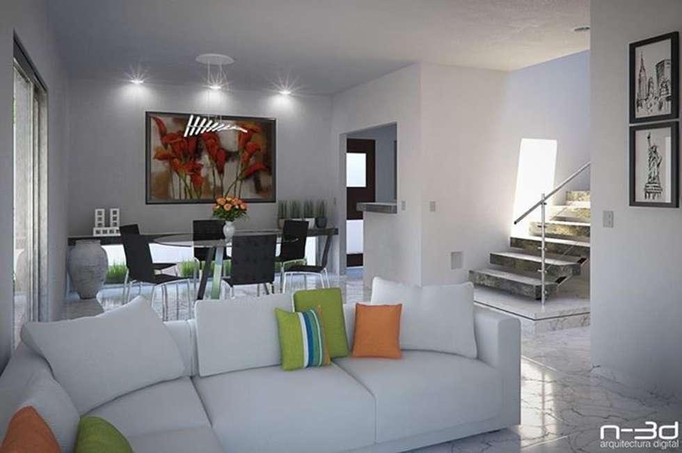 Maqueta interior : Salas de estilo minimalista por FERCO