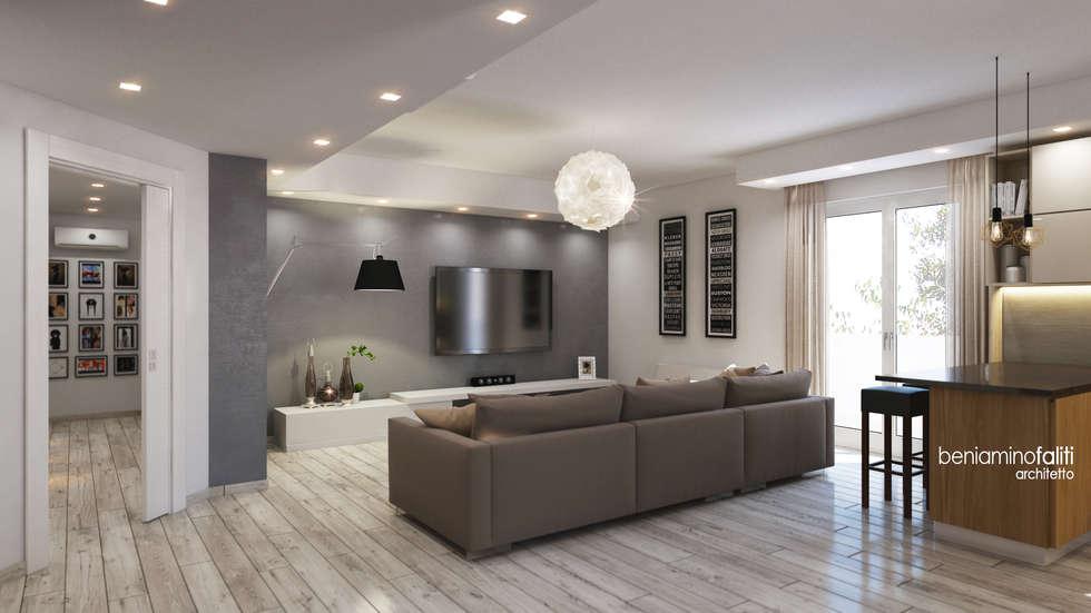 Idee arredamento casa interior design homify for Zona living moderna