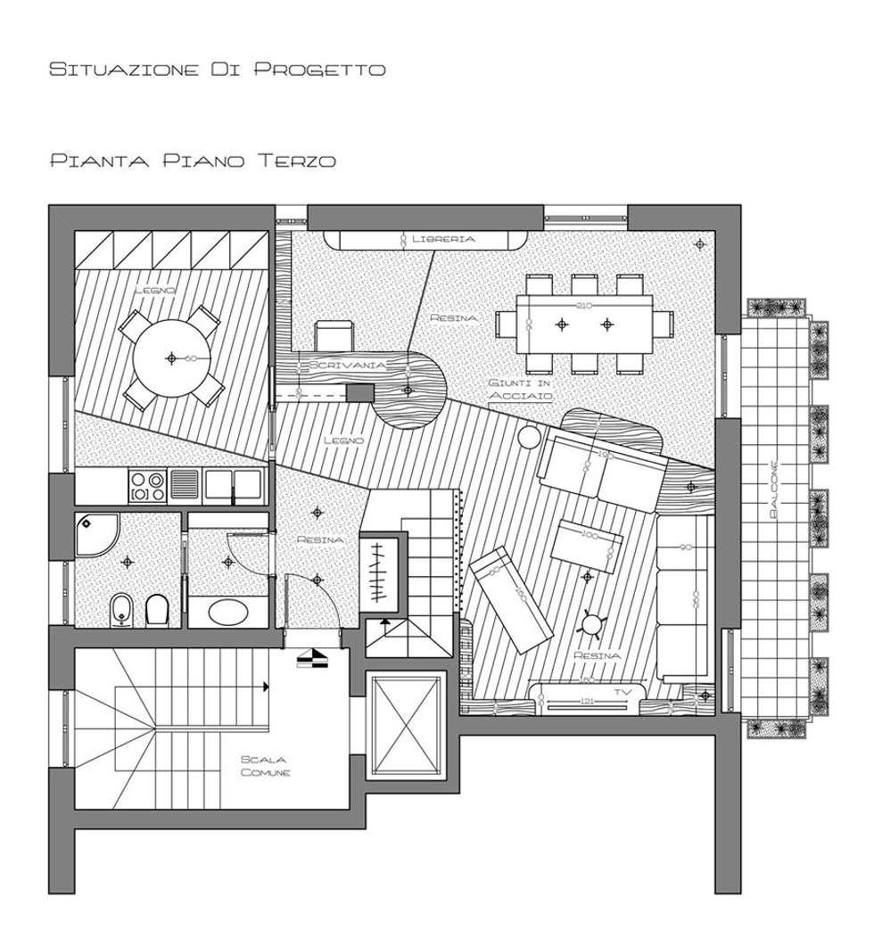 Sistemazione appartemento: Case in stile in stile Moderno di Fabrizio Alborno Studio di Architettura ALBORNO\GRILZ