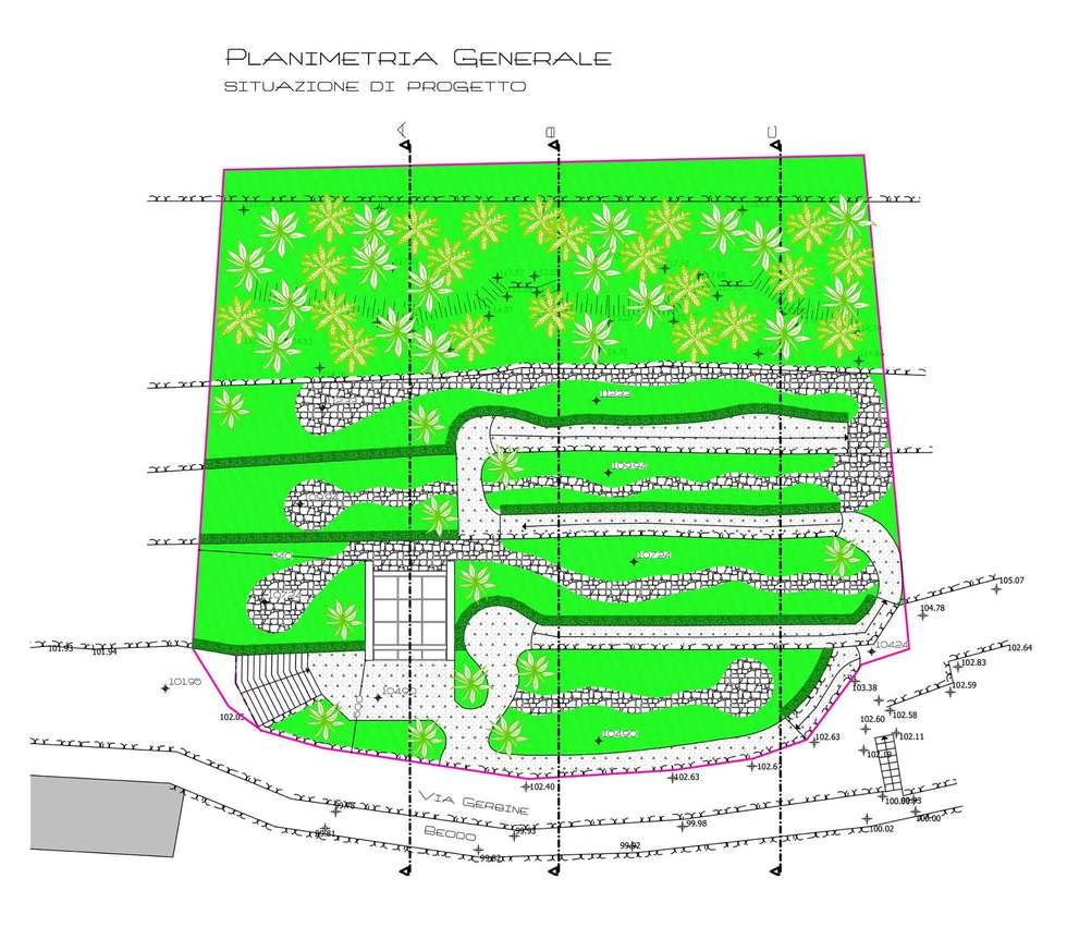 Giardino della memoria: Giardino in stile in stile Moderno di Fabrizio Alborno Studio di Architettura ALBORNO\GRILZ