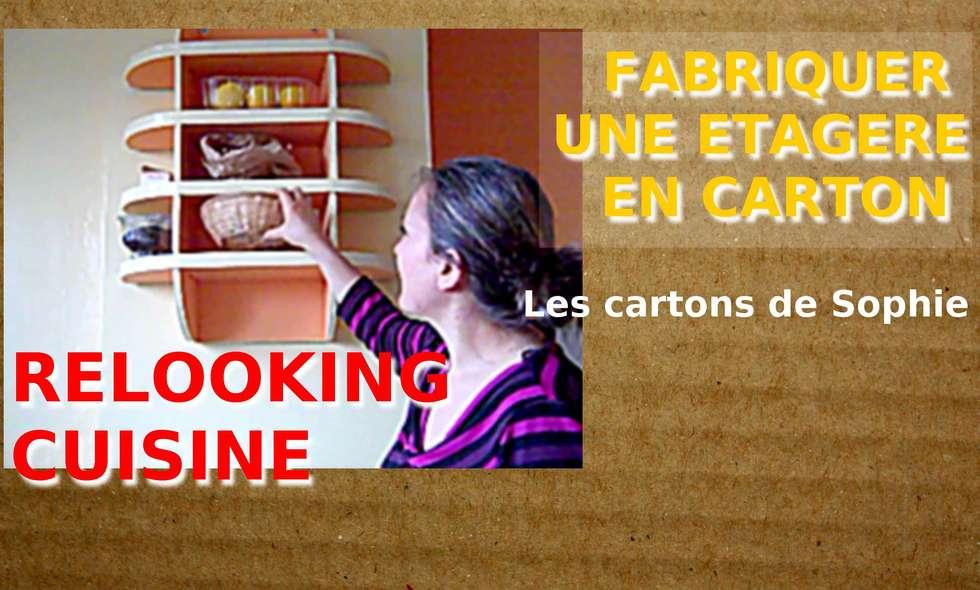 ETAGERE MURALE EN CARTON: Cuisine de style de style Moderne par Les cARTons de Sophie