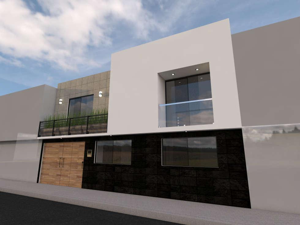 Fachada: Casas de estilo moderno por Arqternativa