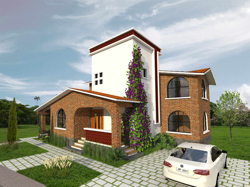 Fachada Principal: Casas de estilo rural por Arqternativa