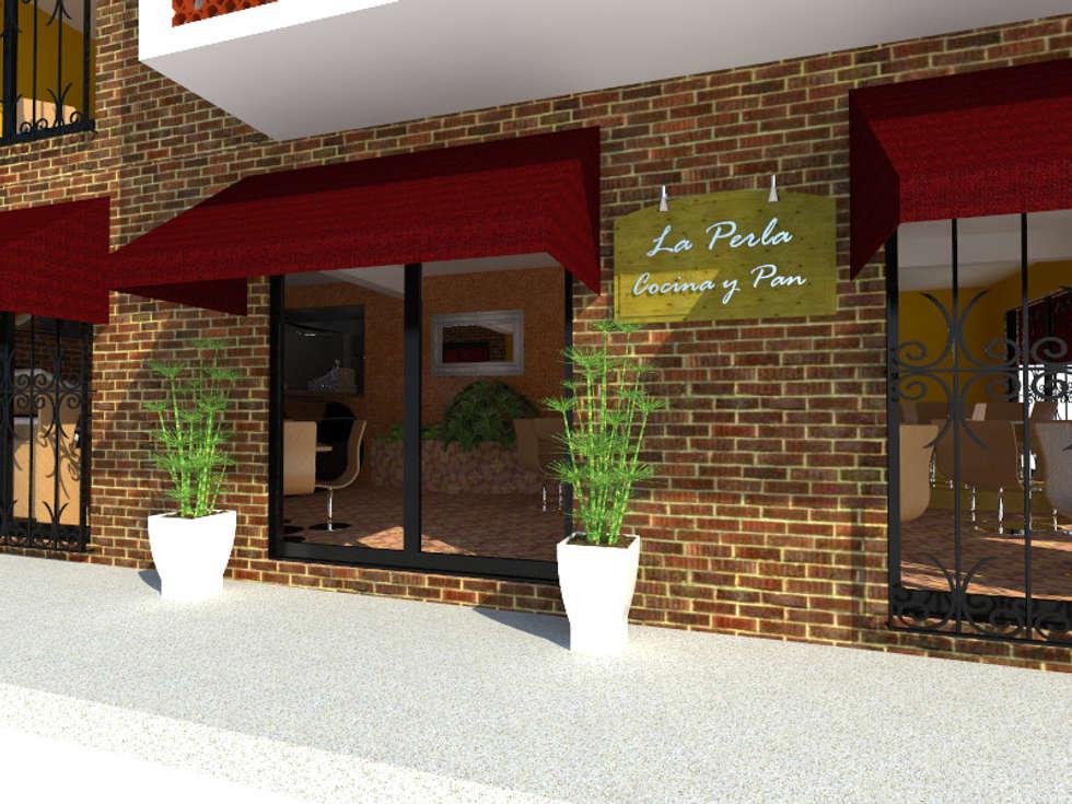 Acceso a restaurante.: Restaurantes de estilo  por Arqternativa