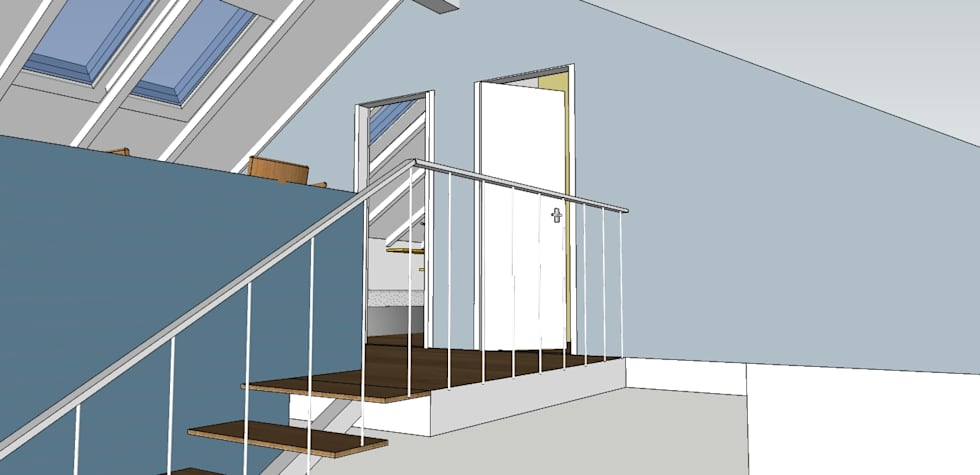 Mansarda!: Camera da letto in stile in stile Moderno di Arch&G
