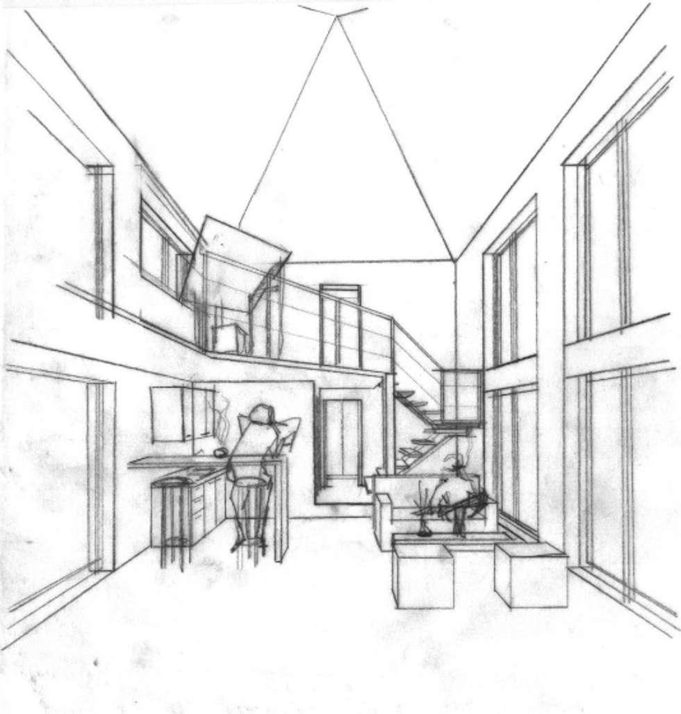 EL GRANERO: Casas de estilo rural por AUREA Estudio de Diseño