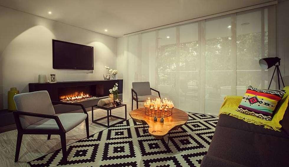 Sala: Salas de estilo moderno por Maria Mentira Studio