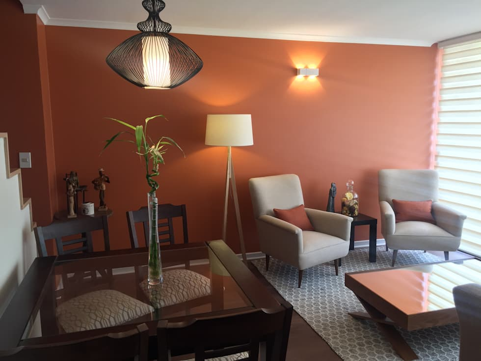 Living decorado moderno moderno diferencia entre sala de for Decoracion family room moderno