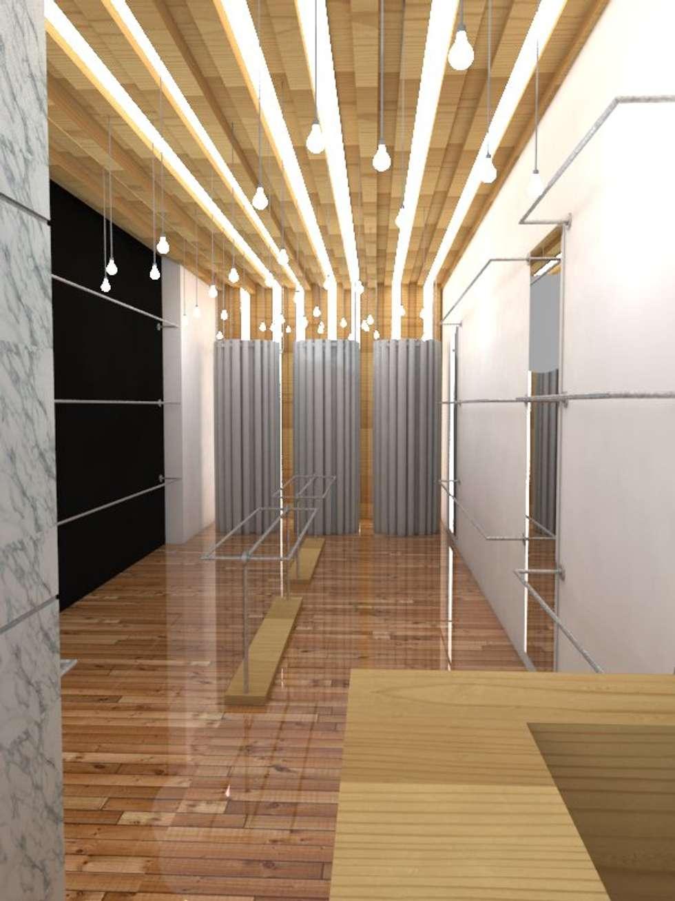 Tiendas Boken - Inicio: Estudios y oficinas de estilo asiático por Proyectos JARQ
