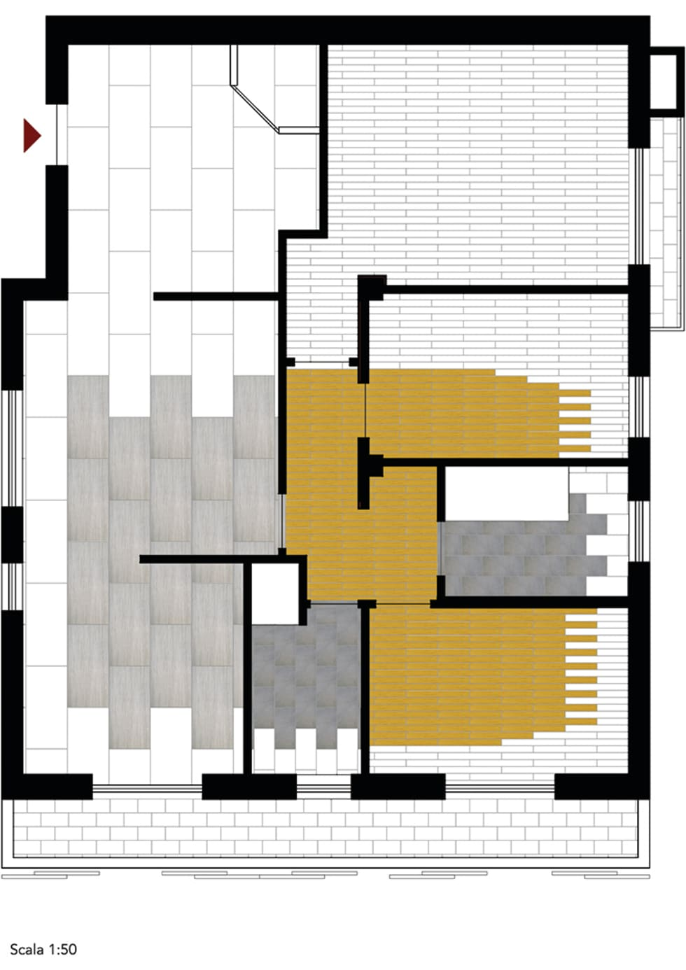 Appartamento Magenta: Pareti in stile  di IAR Design di Romeo Alessandro