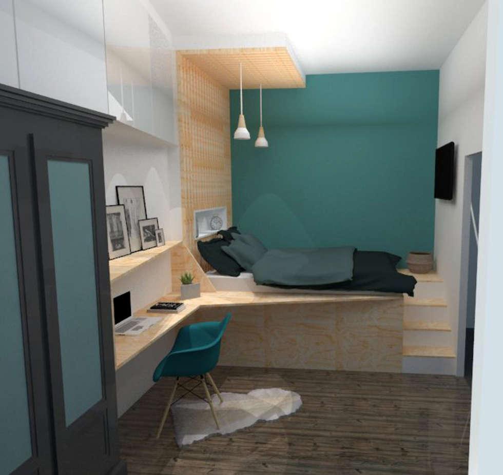 Scandinavian bedroom by laura benitta architecture d\'intérieur et ...