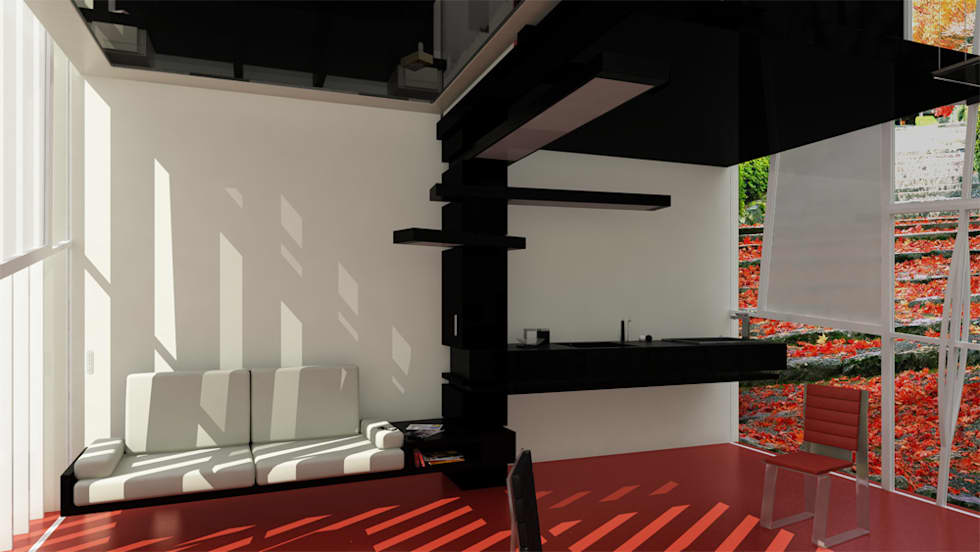 6^3: Cucina in stile in stile Minimalista di Horizon Studio