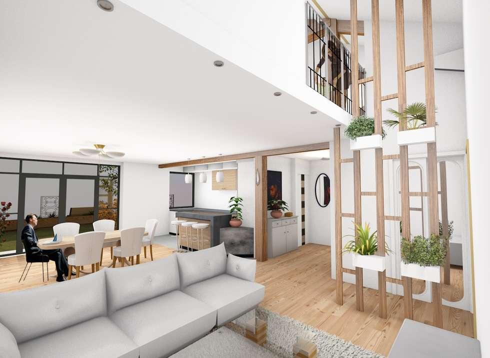 vue intérieure: Salon de style de style Moderne par AeA - Architecture Eric Agro