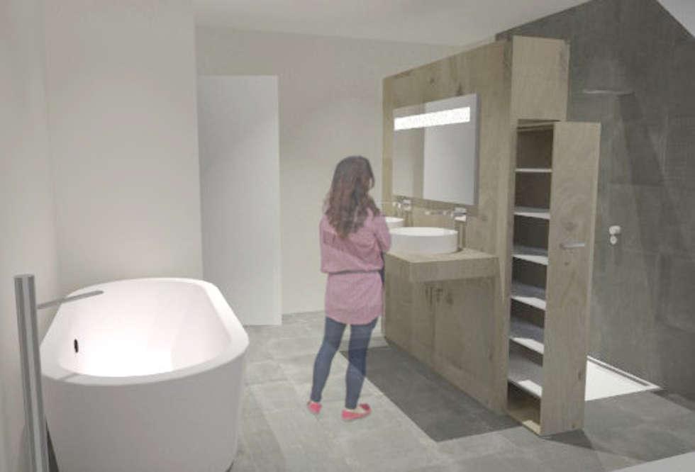 Aménagement de salle de bain: Salle de bains de style  par SVM Claire Humeau